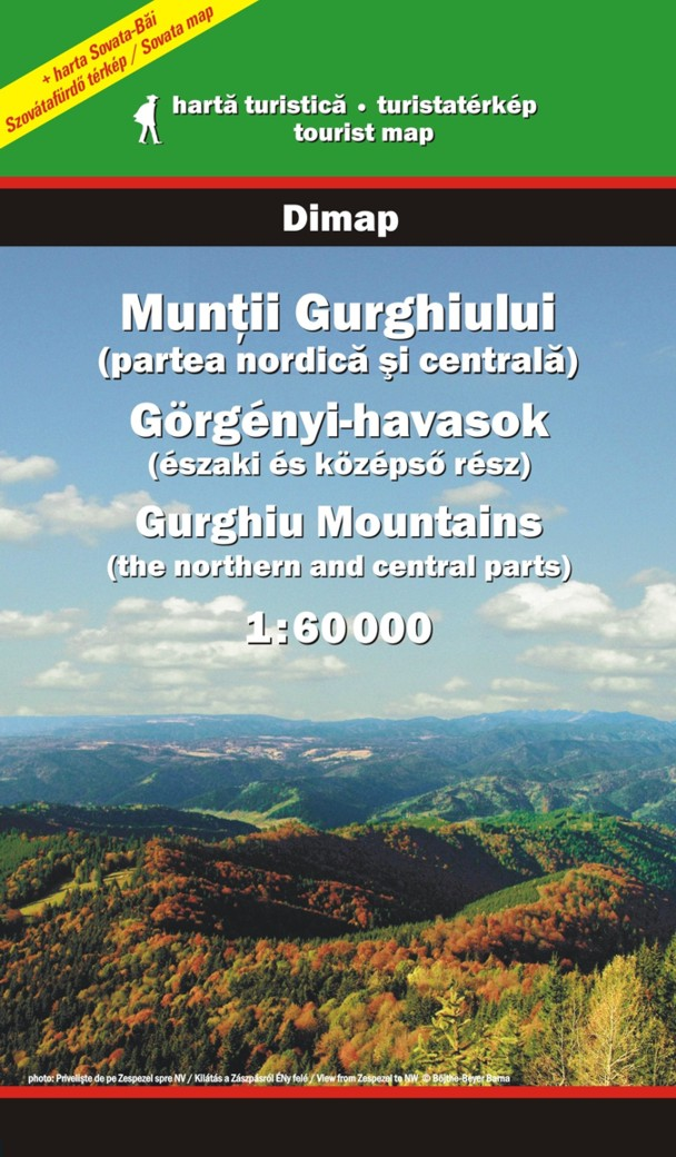 Legend and the informations are available in 3 languages: English, Romanian and Hungarian Inset map of Sovata 1:15.000