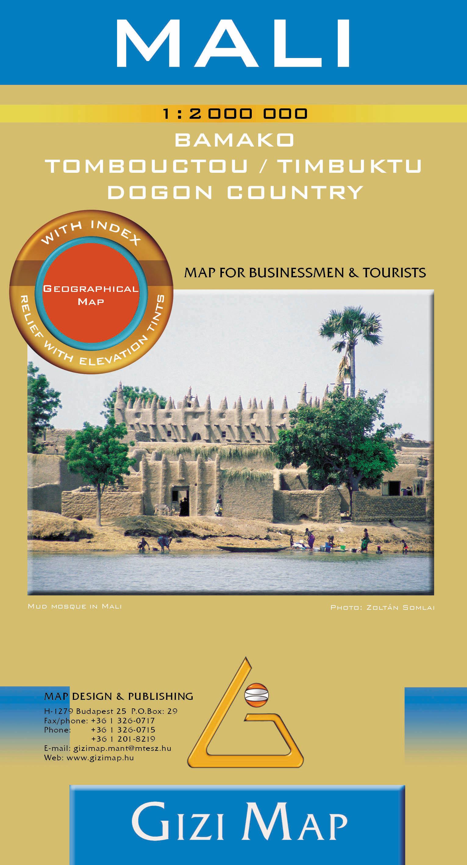 Inset maps: Bamako1:50.000, Central Bamako 1:12.000, Tombouctou (Timbuktu) 1:10.000and Dogon country 1.1.500.000