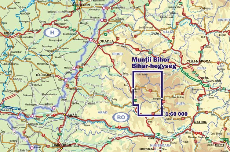 Bihor on map
