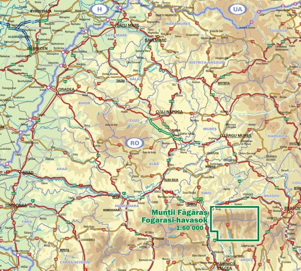Fogarasi-havasok a térképen