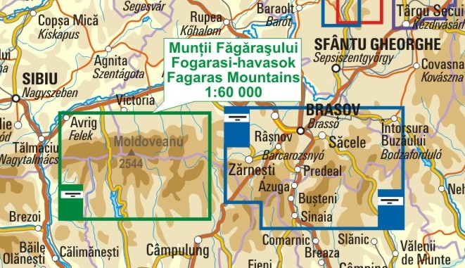 A Fogaras térkép környezete itt látható