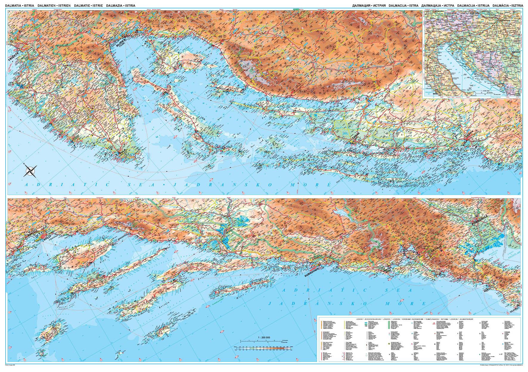 Dalmácia áttekintõ térképe