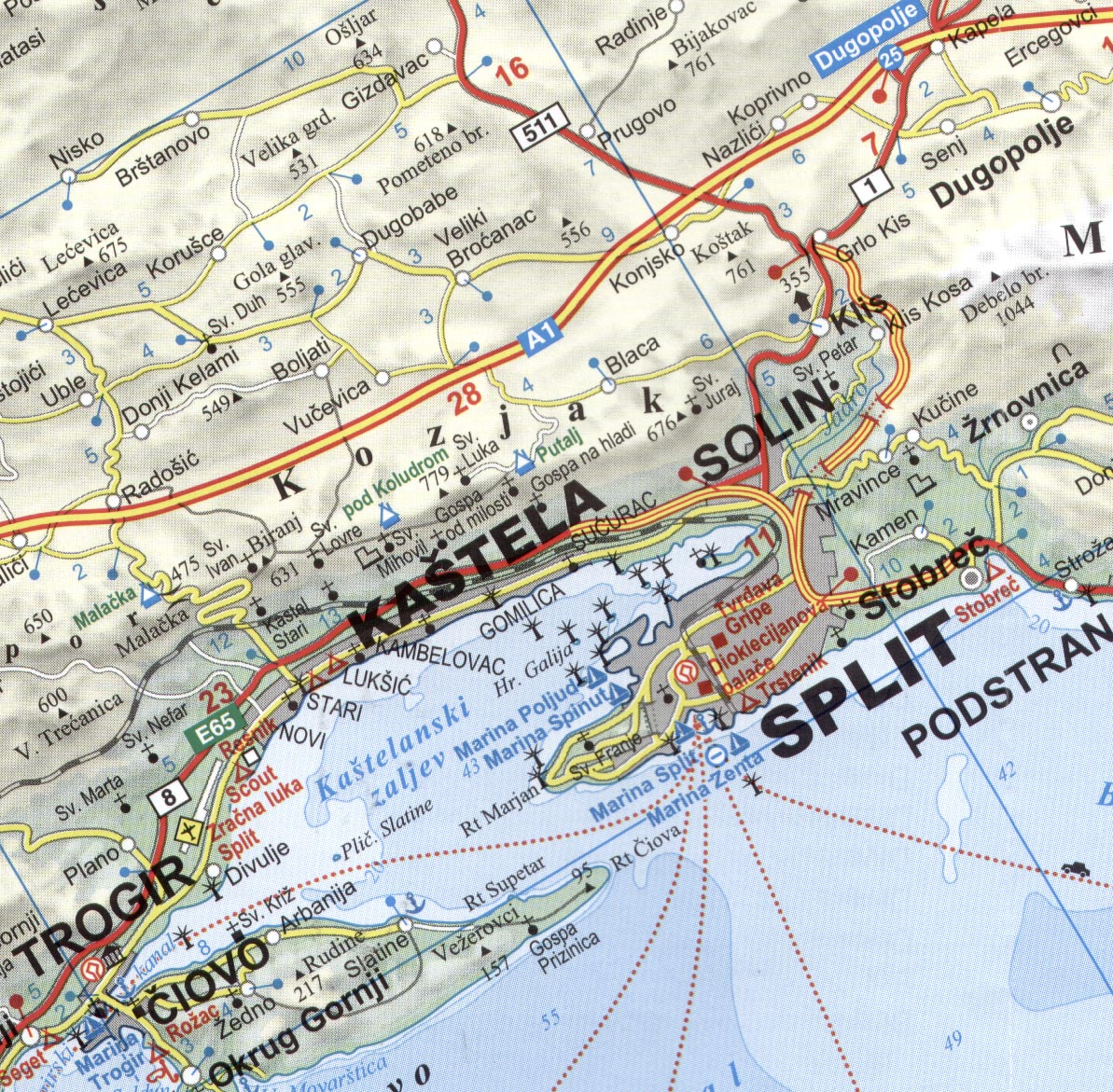 Dalmatia sample map