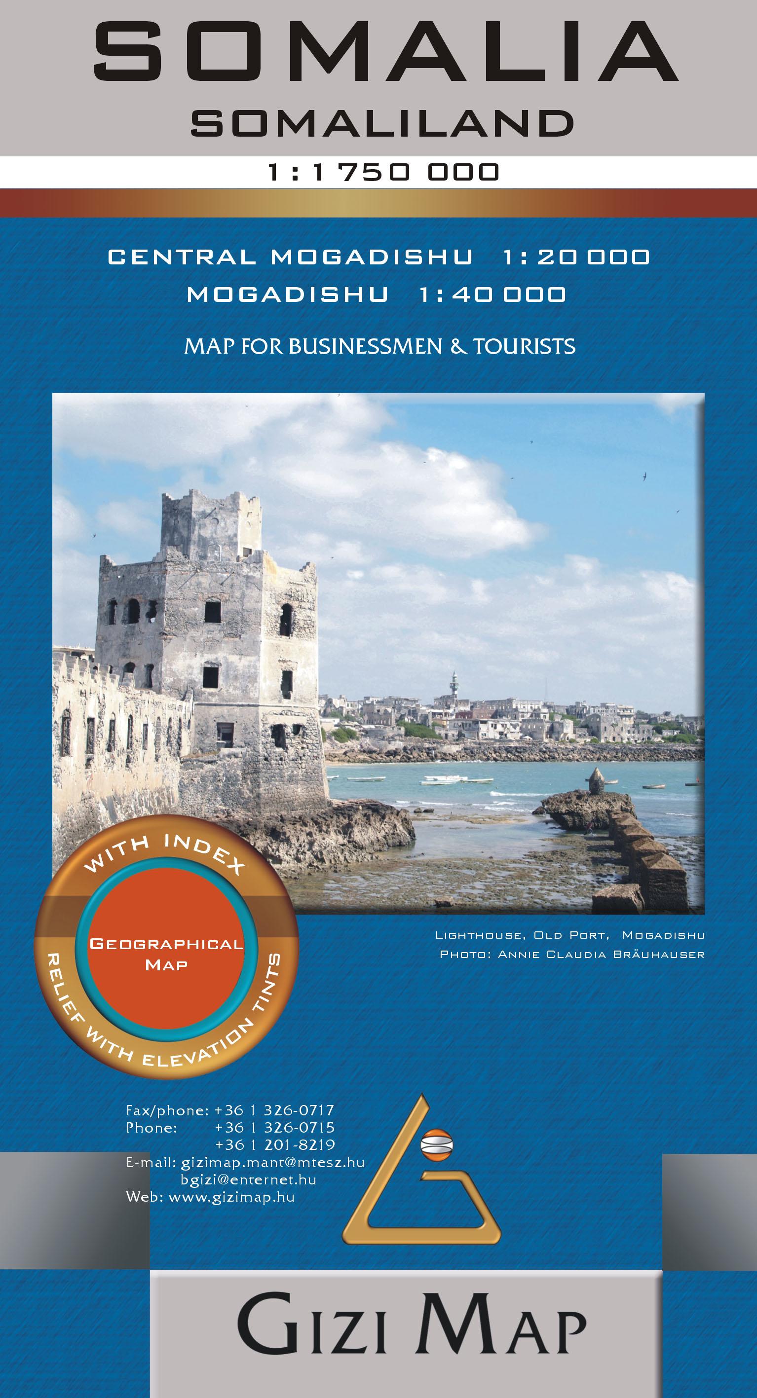 Mogadishu 1:40.000 / 20.000 inset map