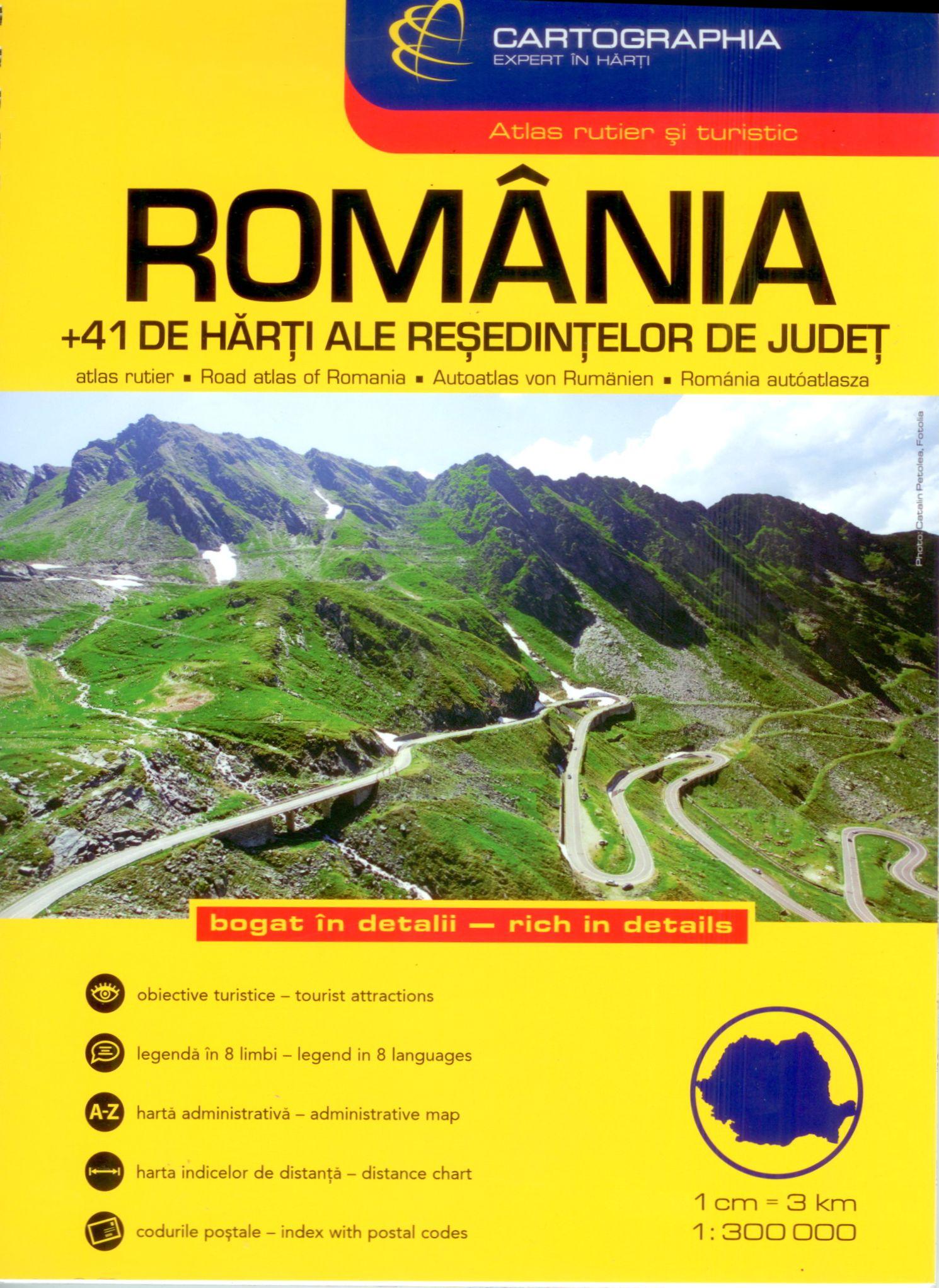 Romania road atlas 1:300.000 cover