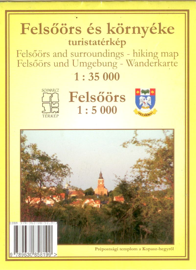Inset map Felsőörs 1:5.000