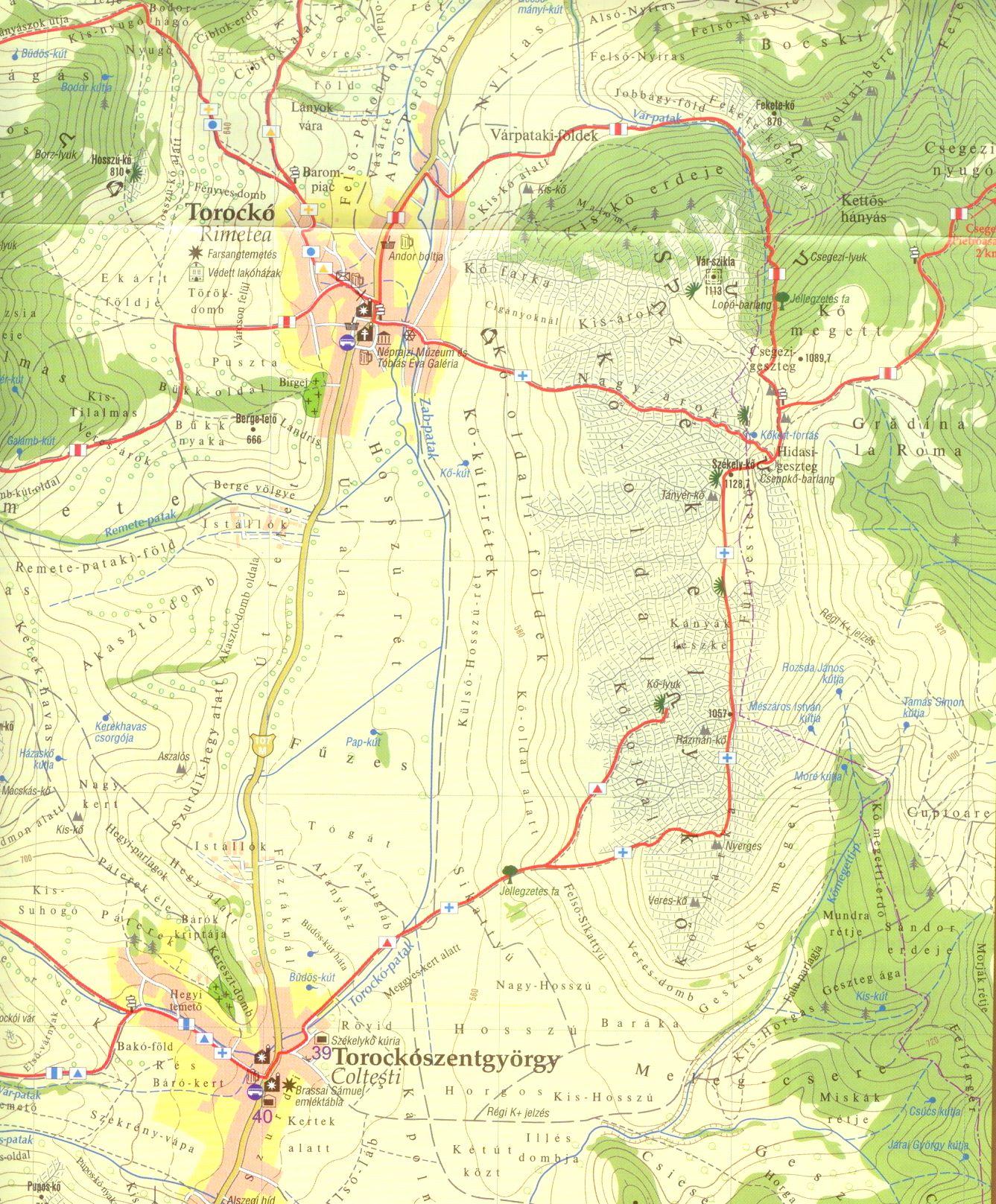 Torockó surroundings sample map 1:25.000