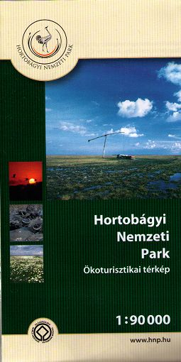 Map of the biggest Hungarian puszta Hortobágy and Tisza lake with tourist information in 3 languages