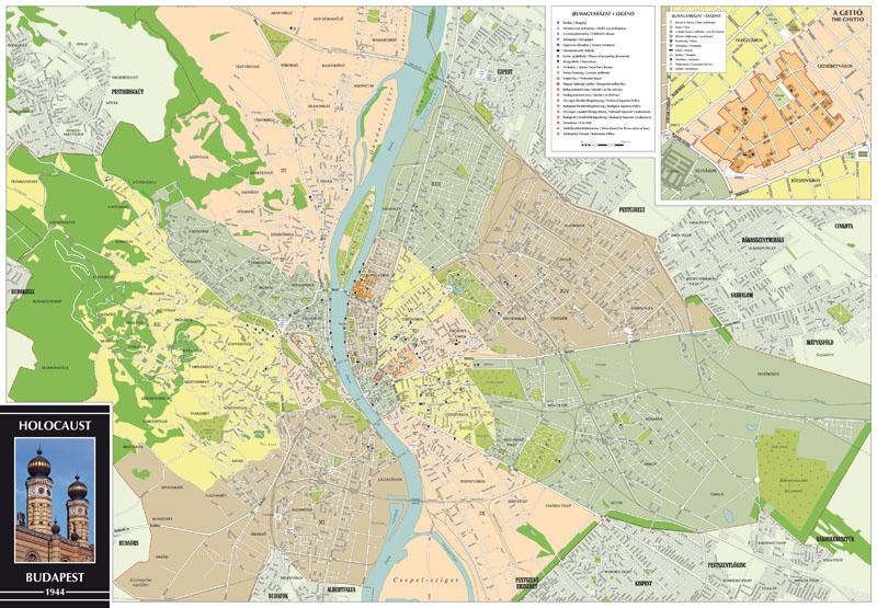 A Holocaust Budapest térkép által lefedett terület