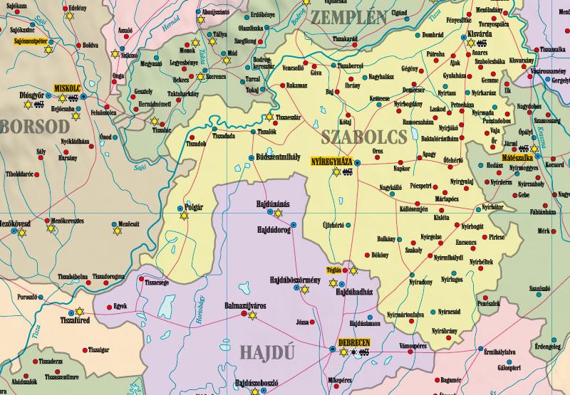 Holocaust Magyarország térkép minta