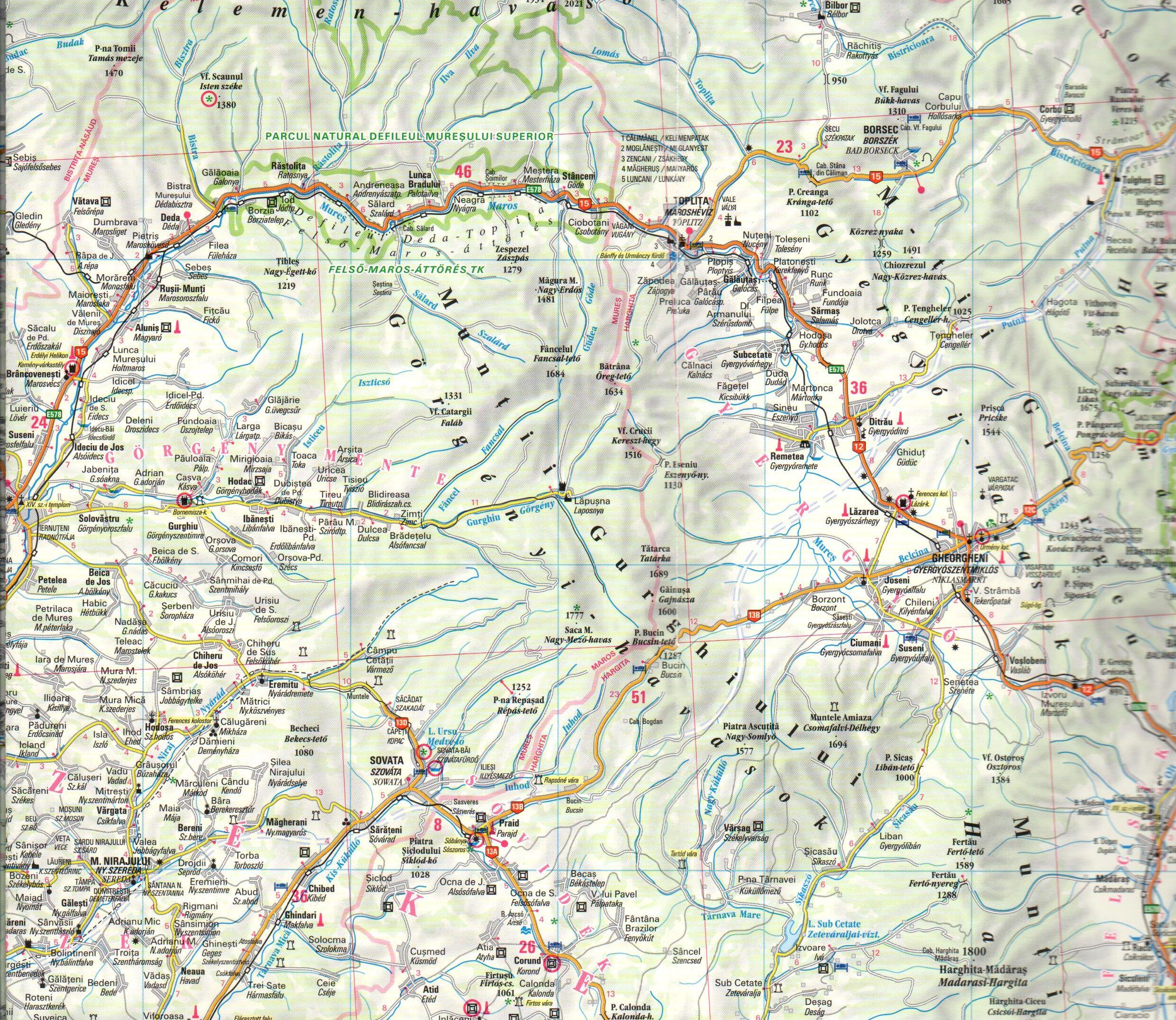 Transylvania sample map No 3.