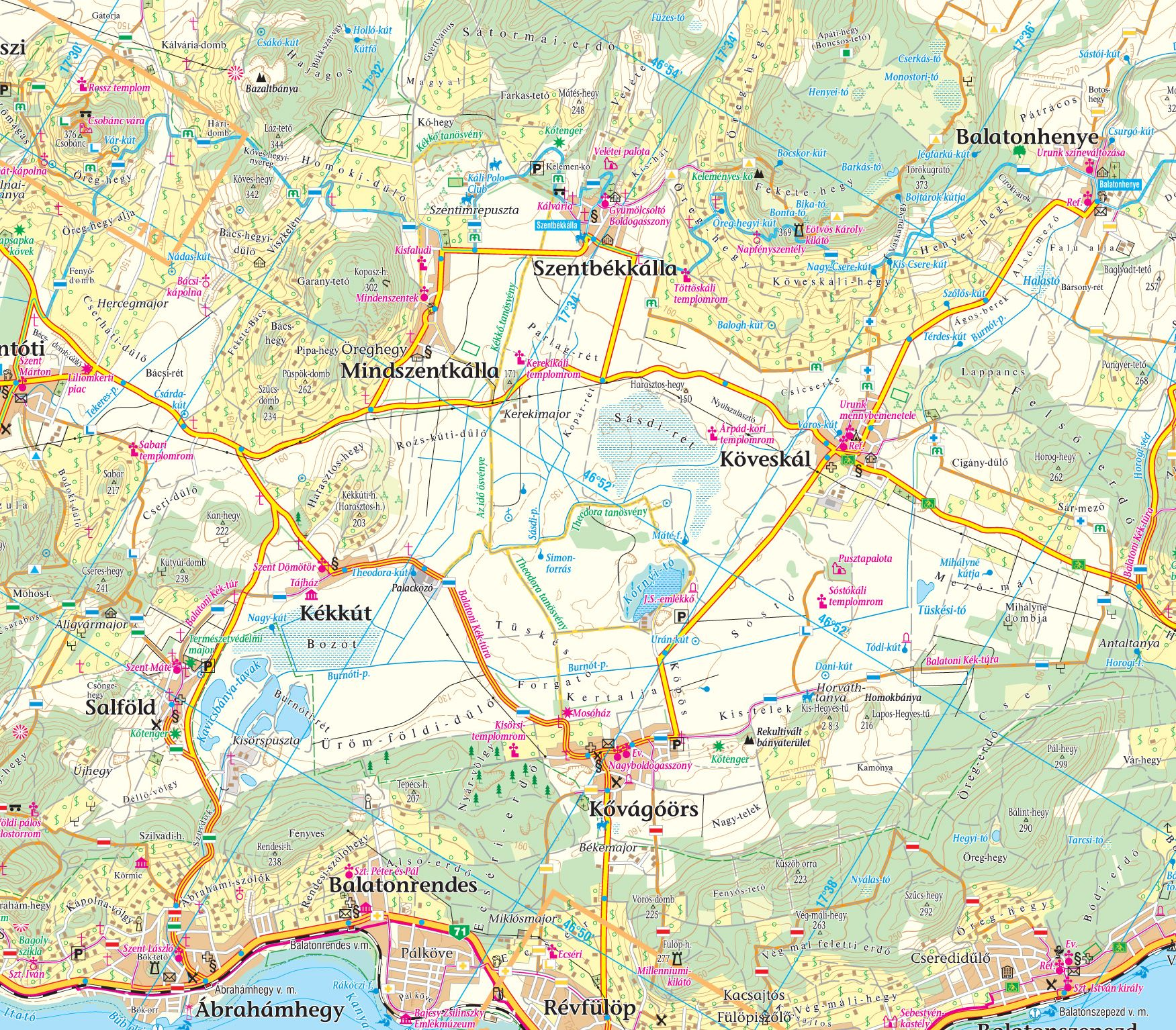 Detailed GPS compatible Balaton tourist-biking map for mobile devices can be purchased on PDFMaps website