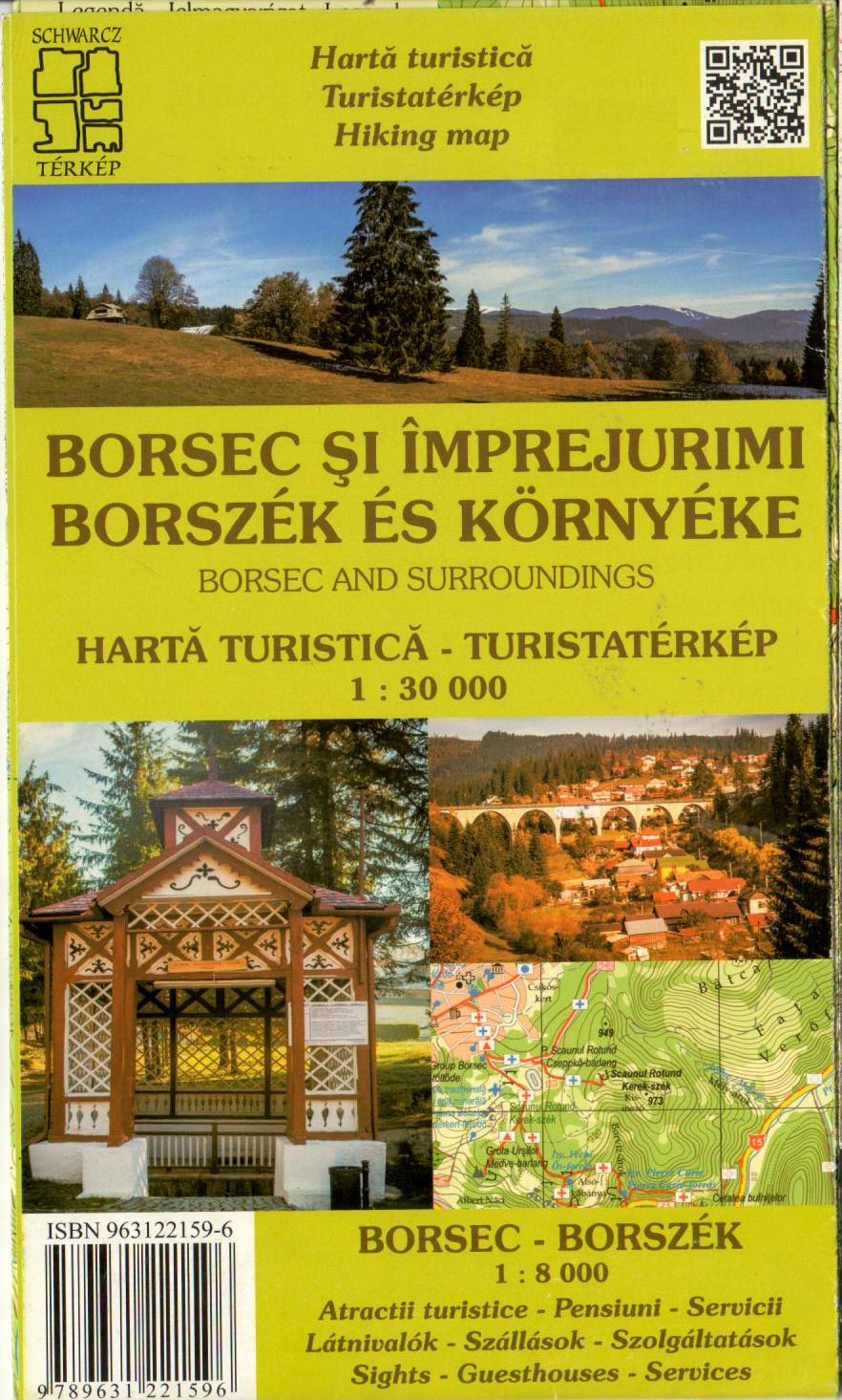 With a city map of Borsec 1:8.000