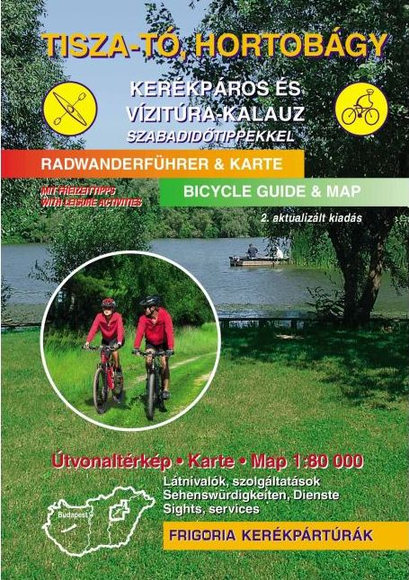 Spiral bound atlas with biking, watersport and horse-riding information in 3 languages (Hungarian, English, German) More than 100 biking routes, 22 water-tour routes