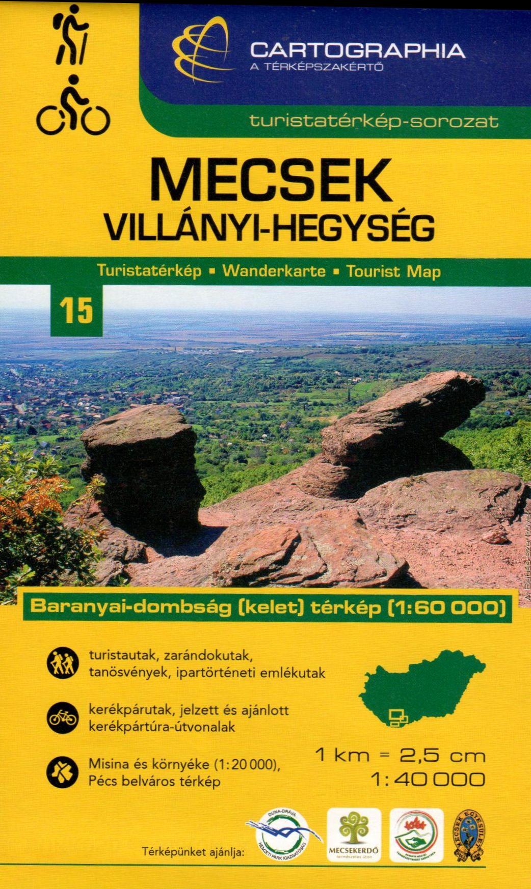 Inset maps: Misina-Tubes 1:20.000, Baranya hills (East)1:60.000