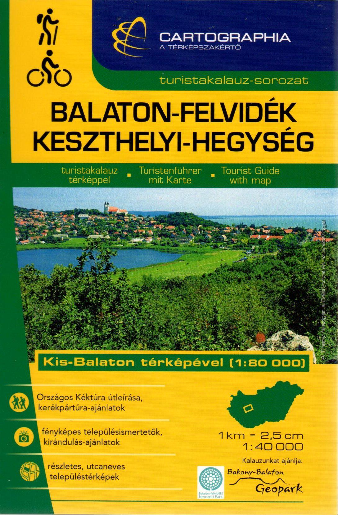 Including city maps: Balatonalmádi, Balatonfüred, Hévíz, Keszthely, Nagyvázsony, Sümeg, Tapolca, Tihany.