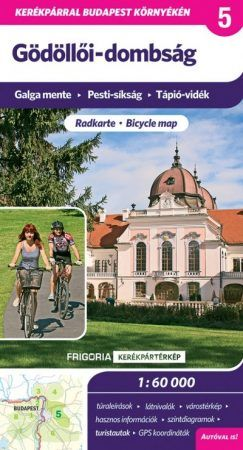 Biking map with tourist information in Hungarian for the near Budapest region