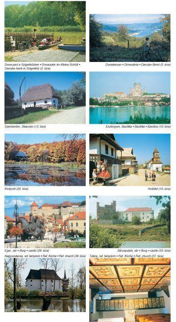 Biking atlas of Hungary sample page