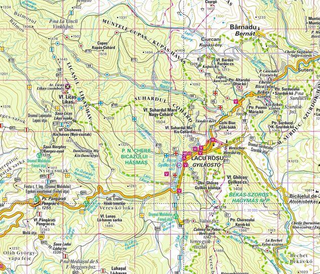 Giurgeu mountains sample map