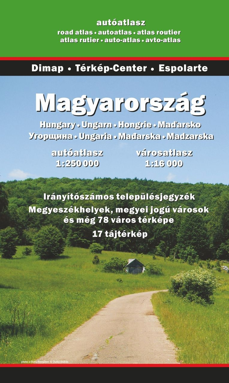 The most detailed atlas of Hungary incl. 100 city maps, 15 tourist maps, index with postal area codes