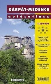 Detailed road atlas of the Hungarian related regions of Central Europe incl. the historical Hungarian geographical names