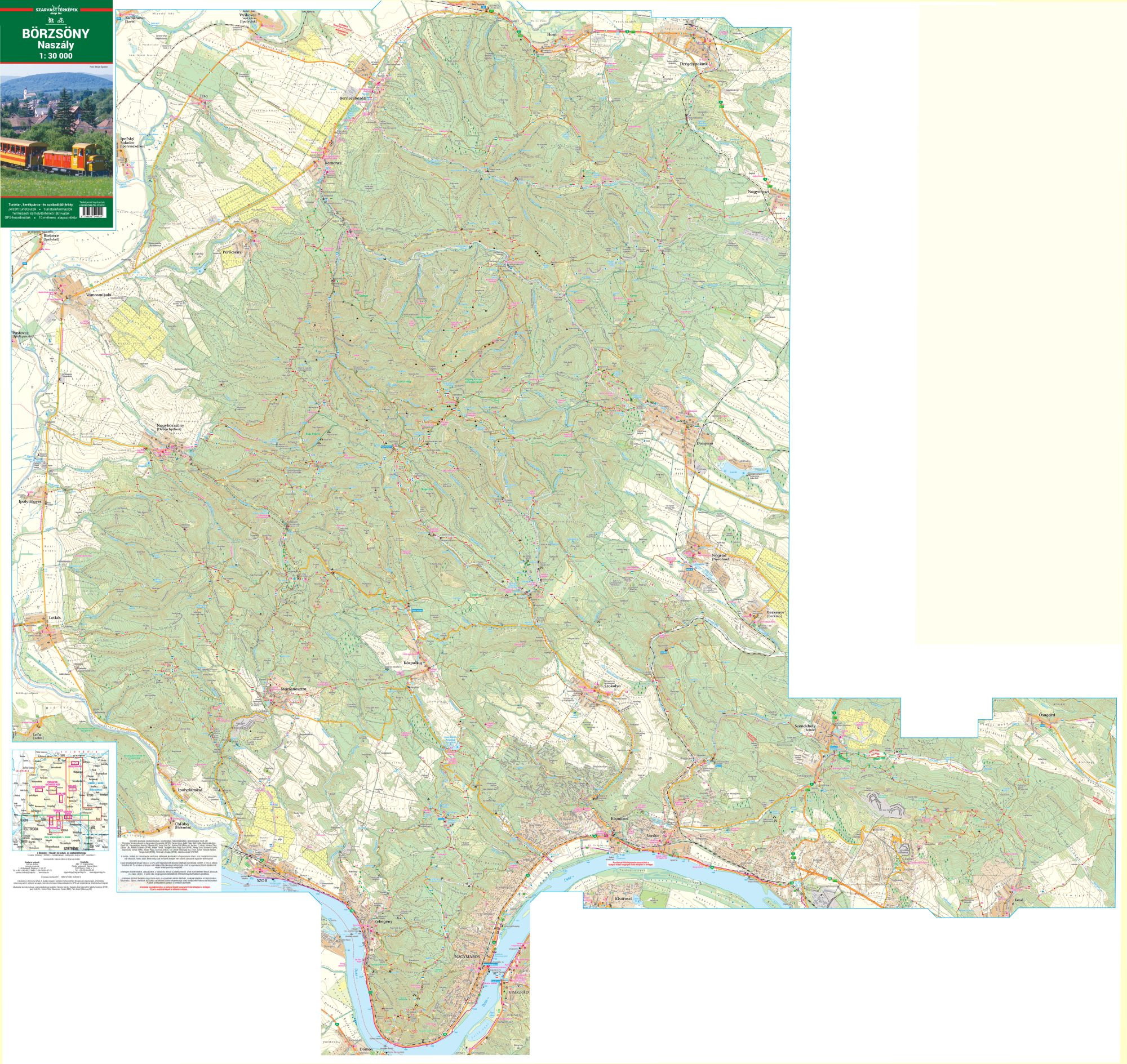 Tourist and biking map for mobile phones and tablets