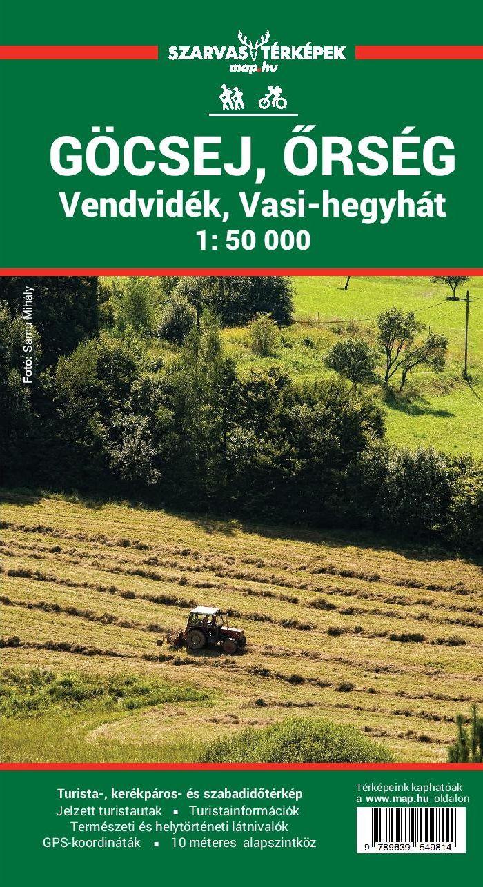 Göcsej/Őrség/Vasi-hegyhát/Vend-vidék tourist and biking map