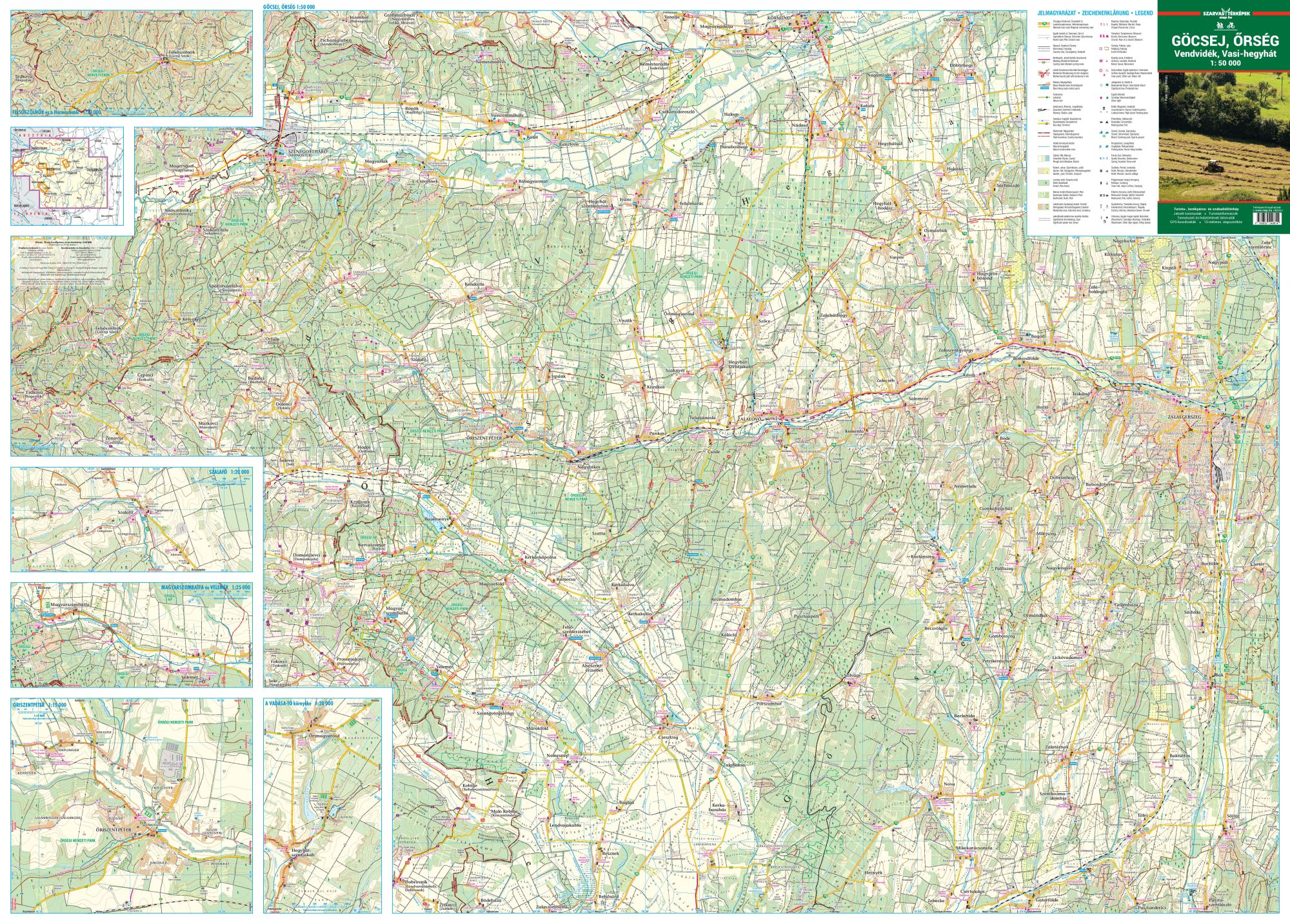 Detailed tourist-biking map for mobile devices