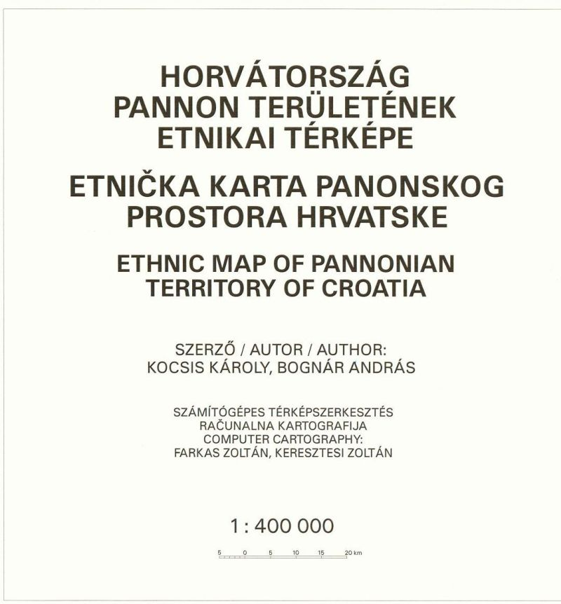 Ethnic map series of the Carpathian basin (former Hungarian territories) Issue No 3. (2003)