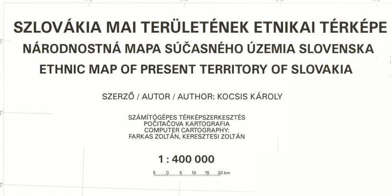 Ethnic map series of the Carpathian basin (former Hungarian territories) Issue No 1. (2000)