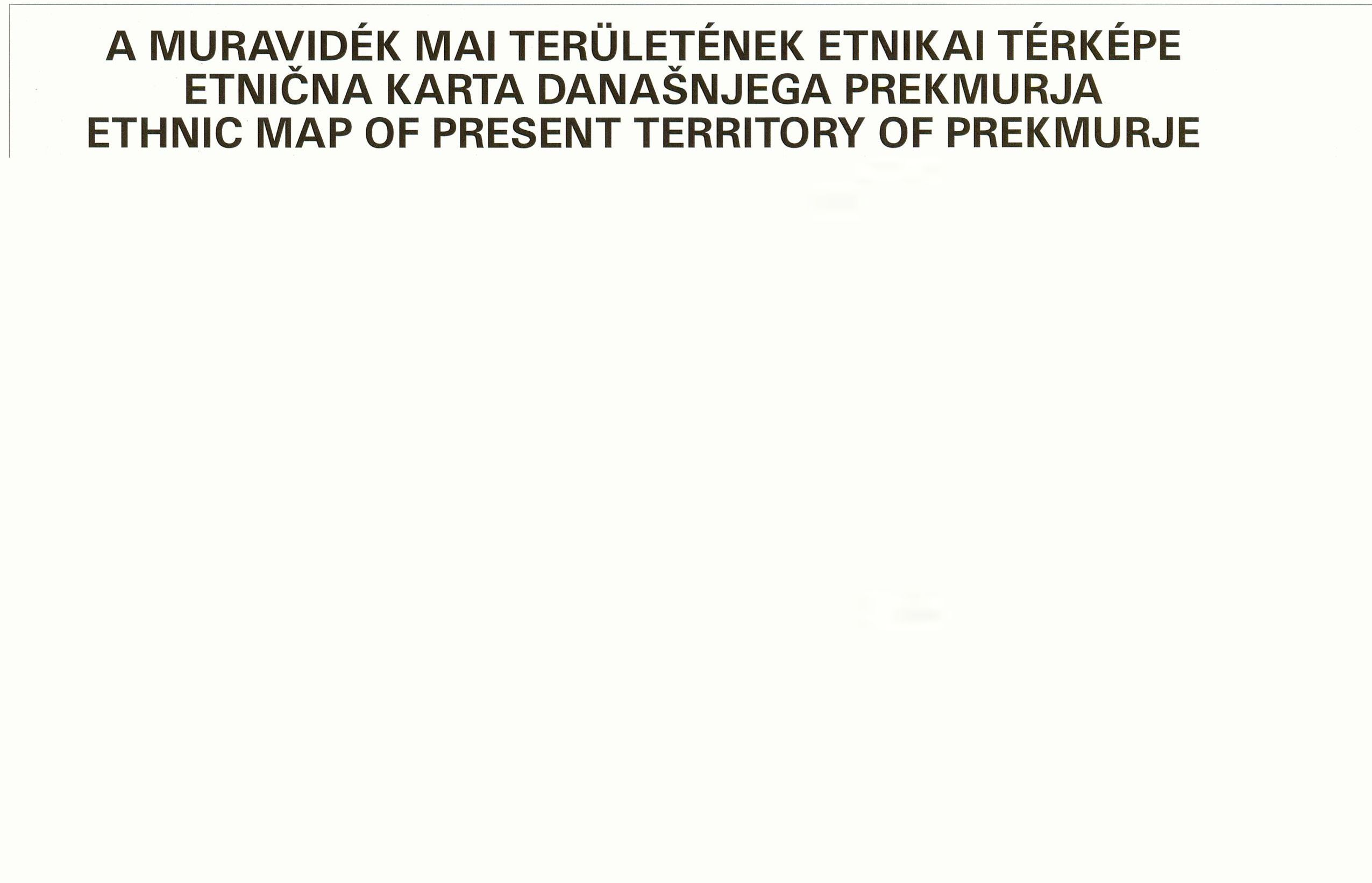Ethnic map series of the Carpathian basin  Issue No 6 (Prekmurje) 2005