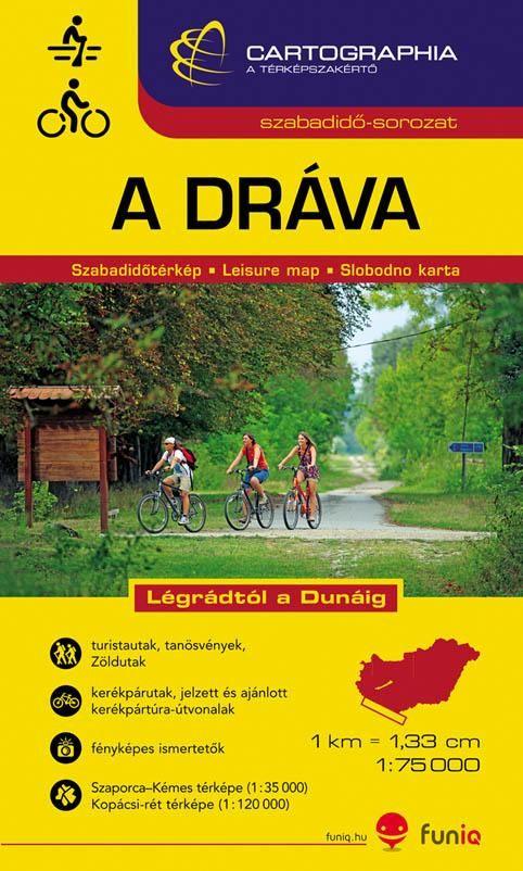 inset maps: Kopacki rit 1:120.000, Szaporca-Kémes 1:35.000
