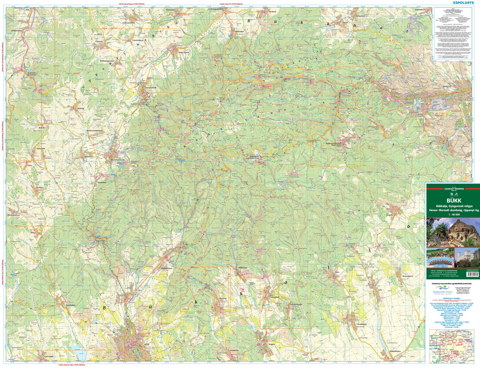 Tourist and biking map for mobile devices and tablets