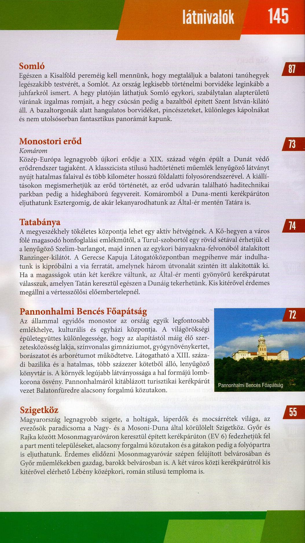 Hungary cycling guide/atlas: sample text page 2