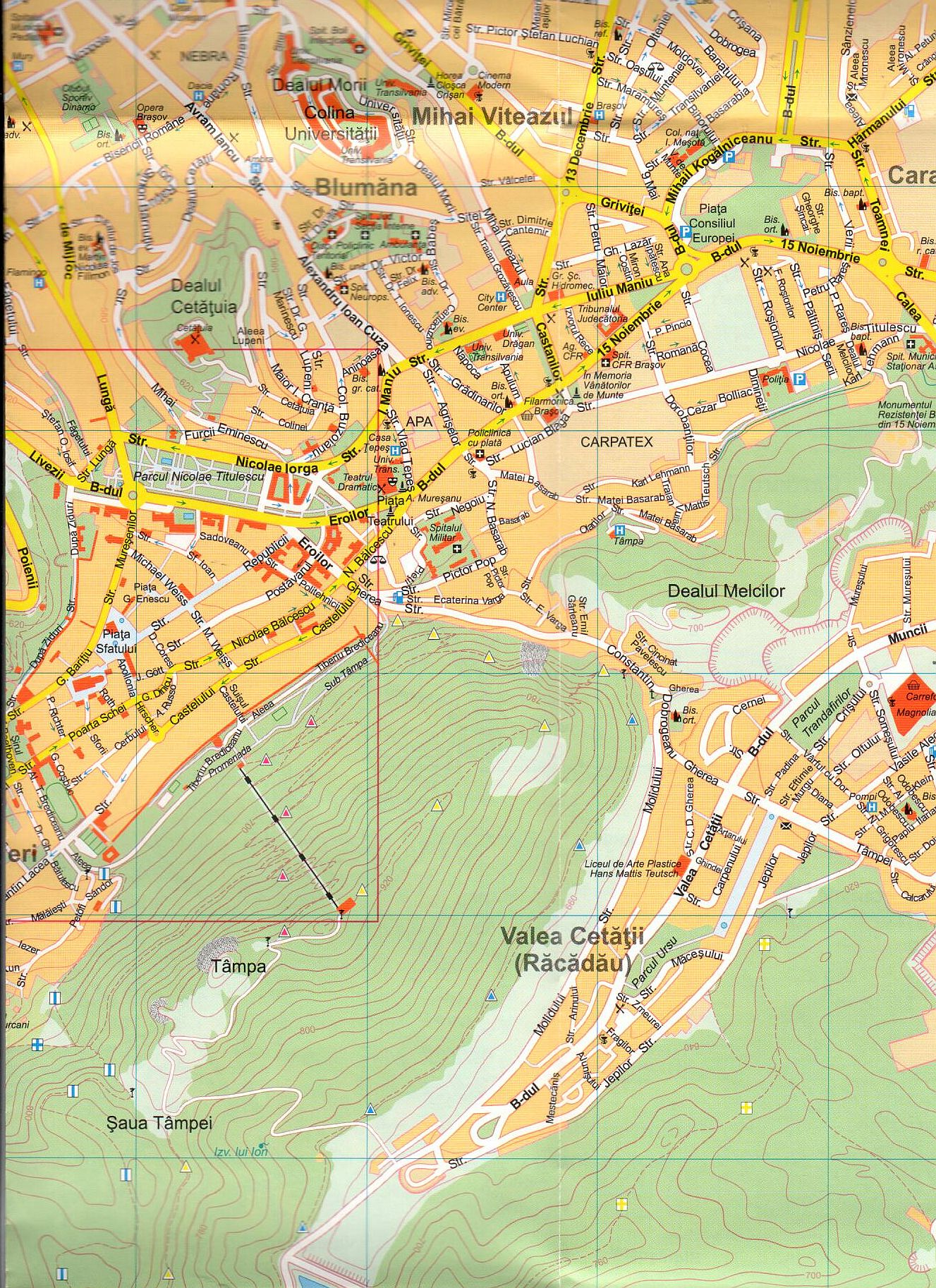 Brasov 1:15.000 sample map