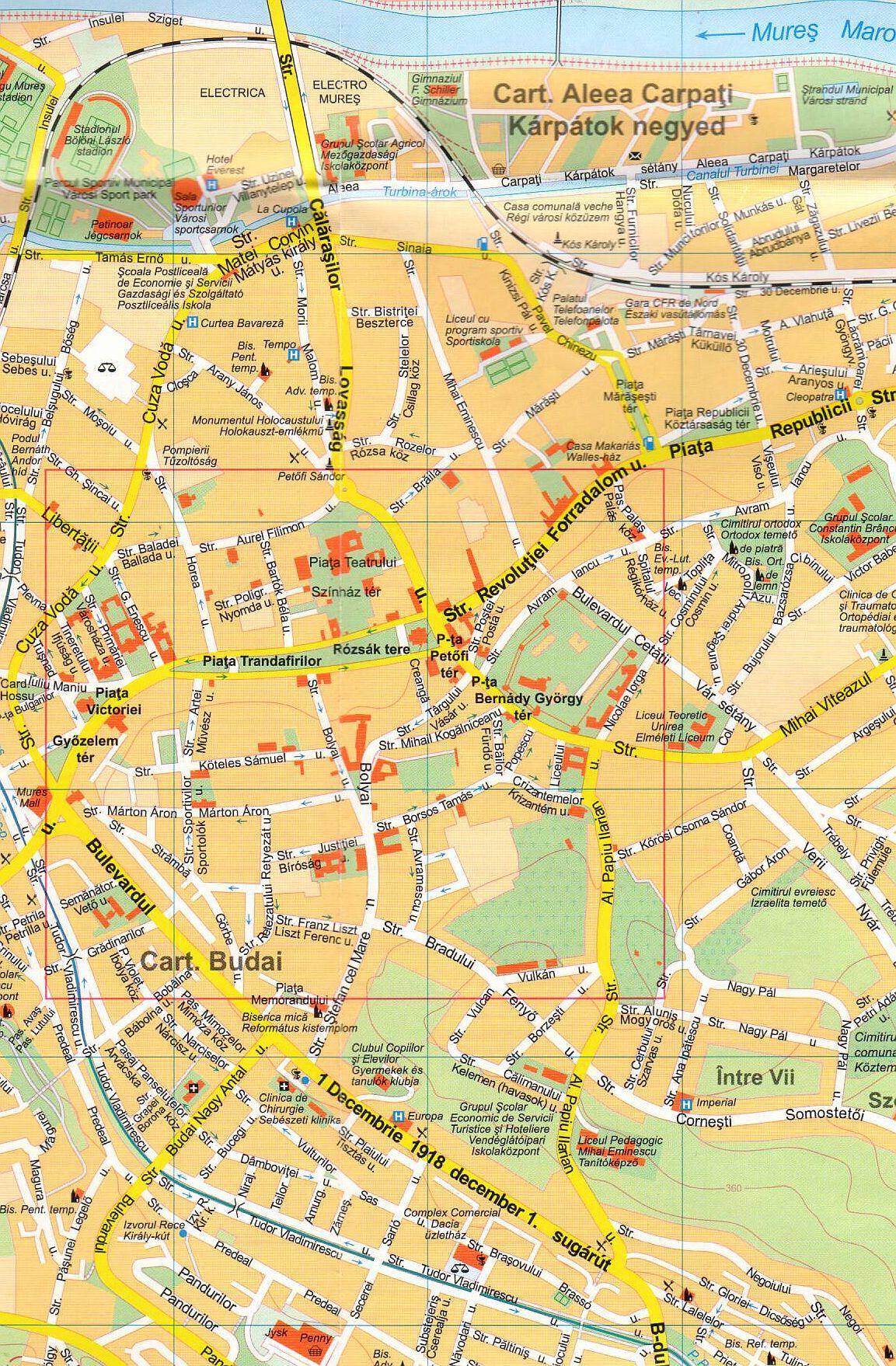 Targu Mures 1:12.000 sample map