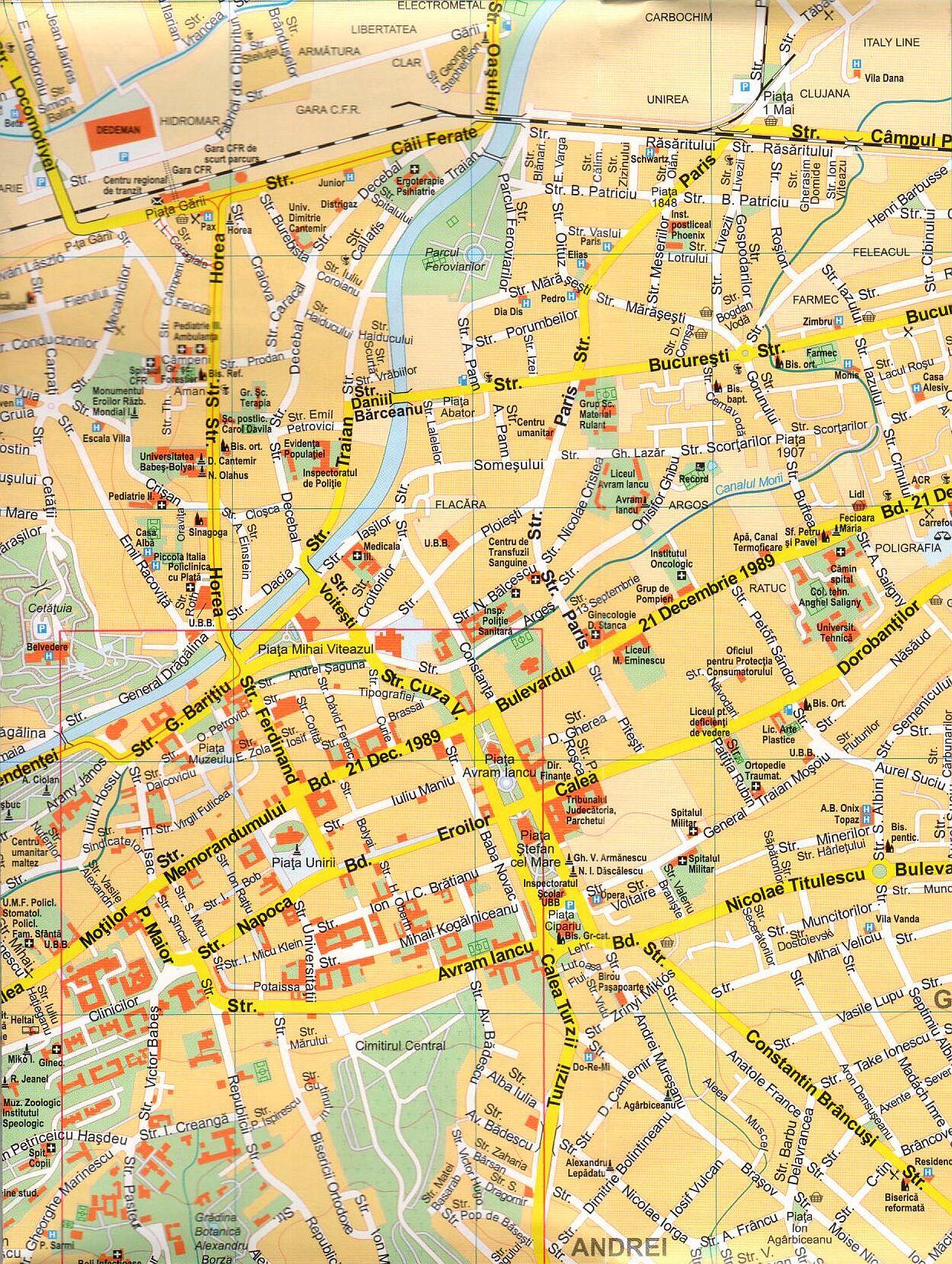 Cluj-Napoca 1.15.000 sample map