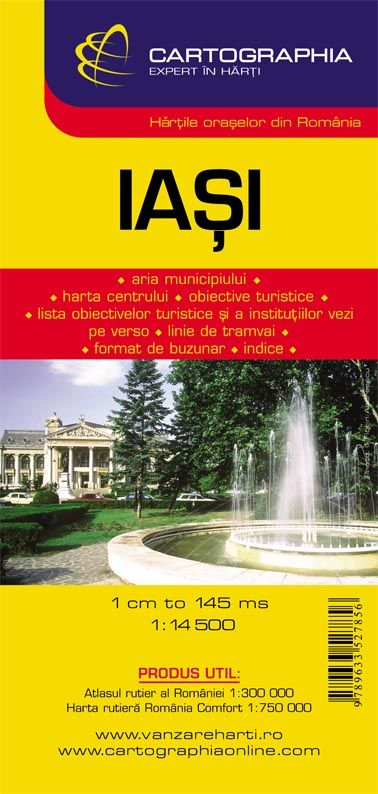 Iasi city map with index of streets and sights