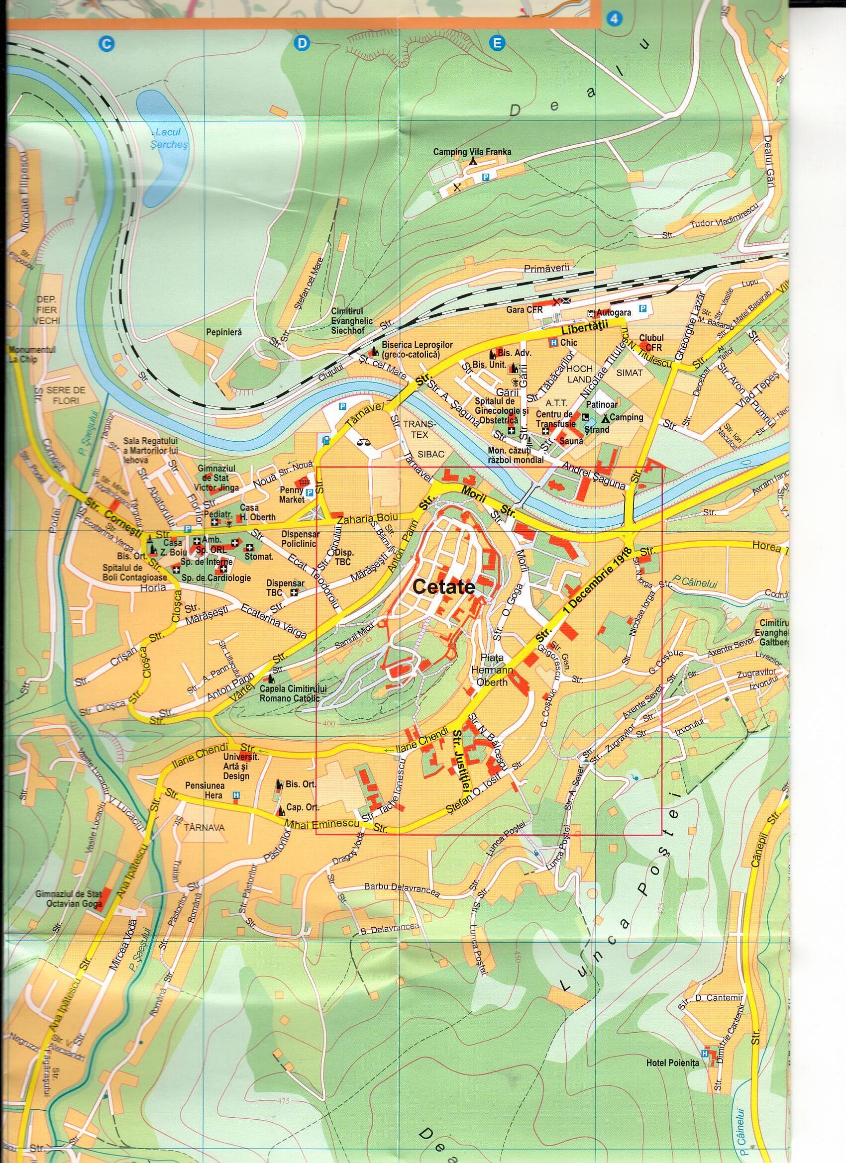 Sighisoara 1.10.000 sample map