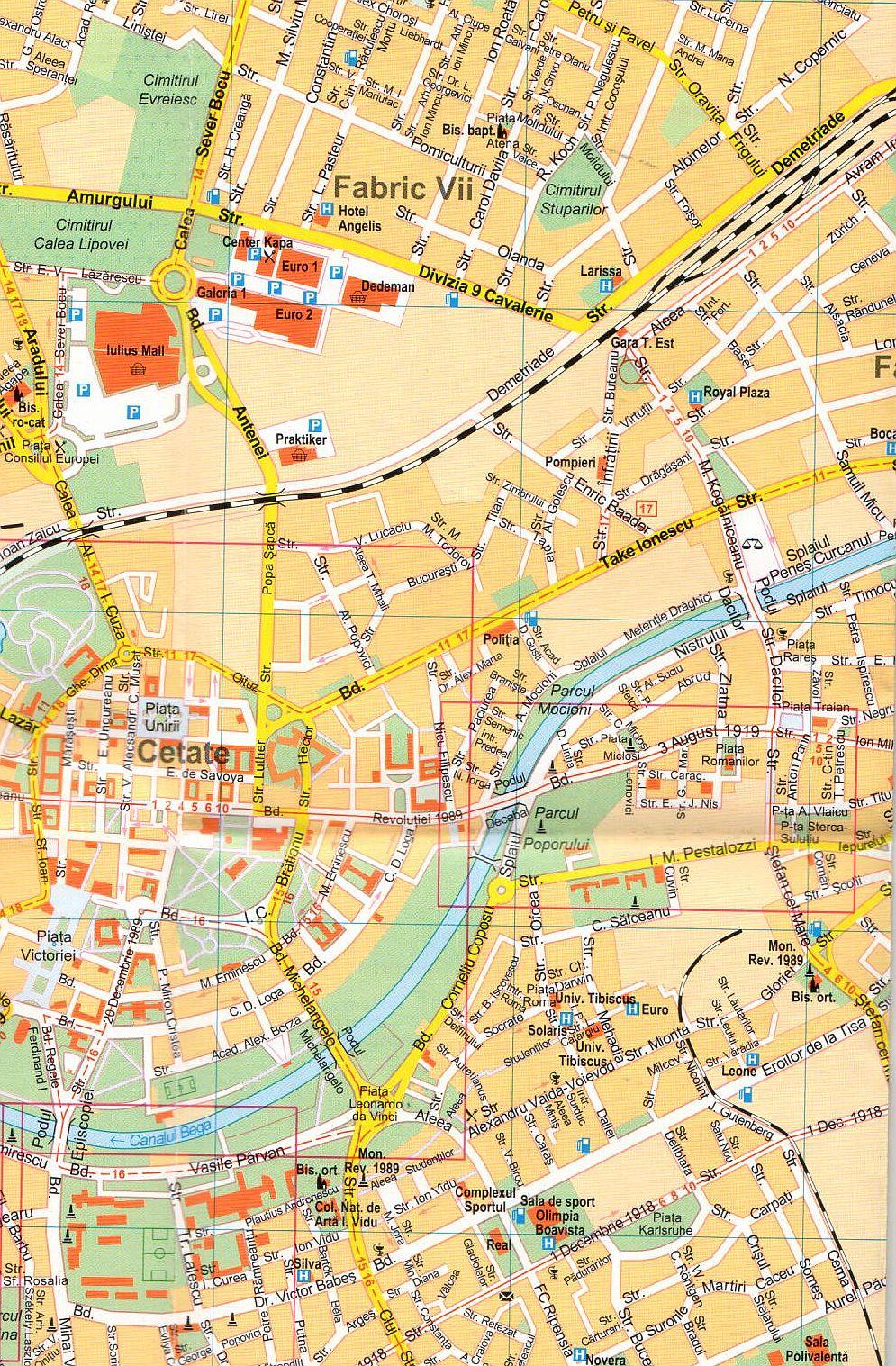 Sighisoara sample map
