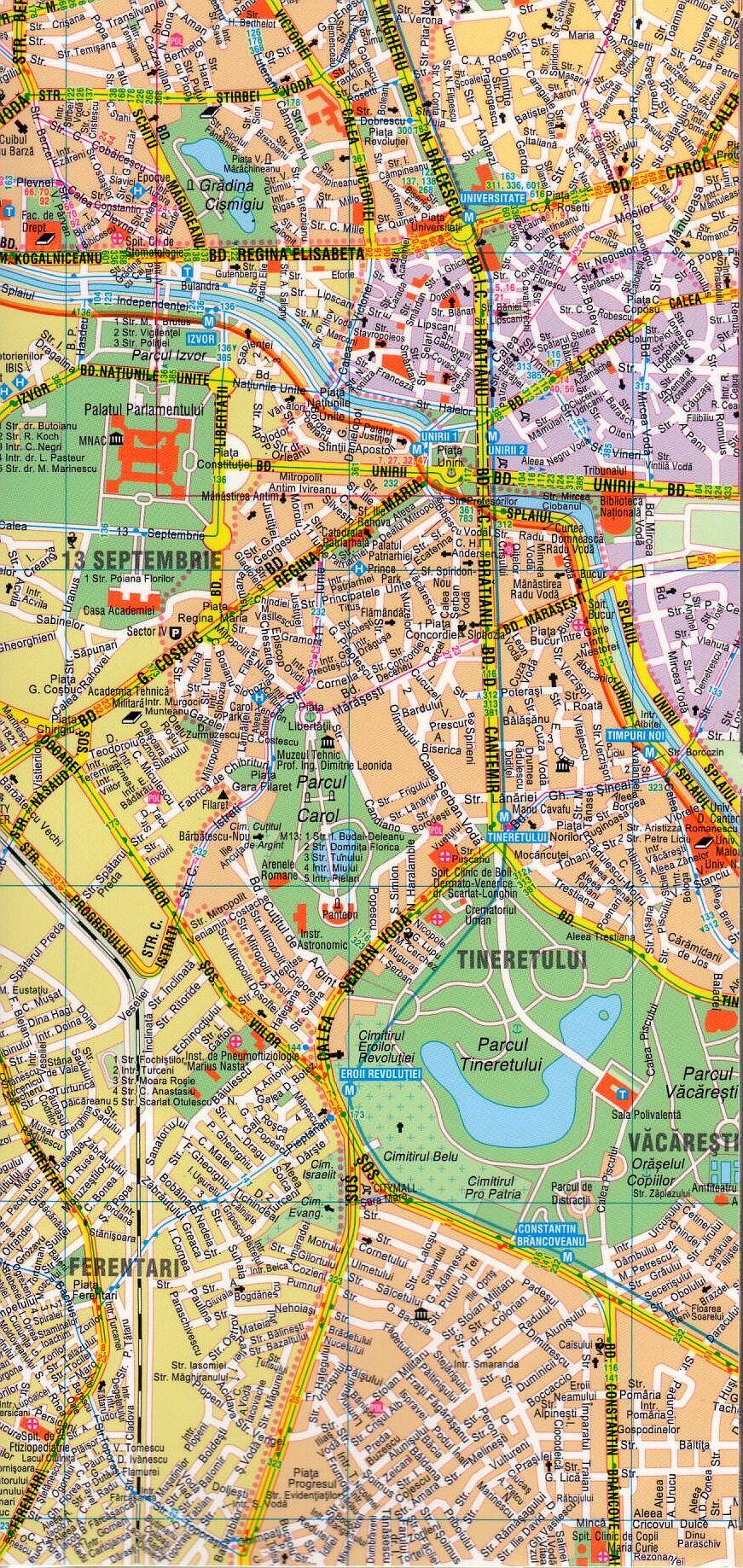 Bucuresti comfort 1:26.000 sample map