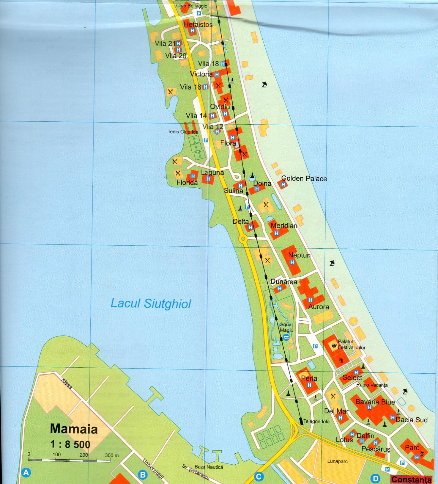 Constanta sample Mamaia map 1:8.500
