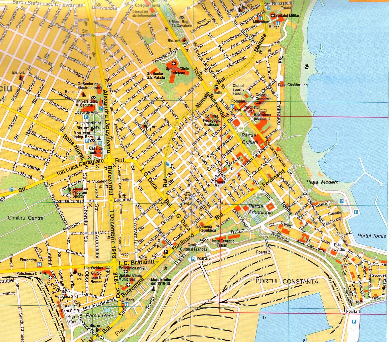 Constanta sample map 1:15.000