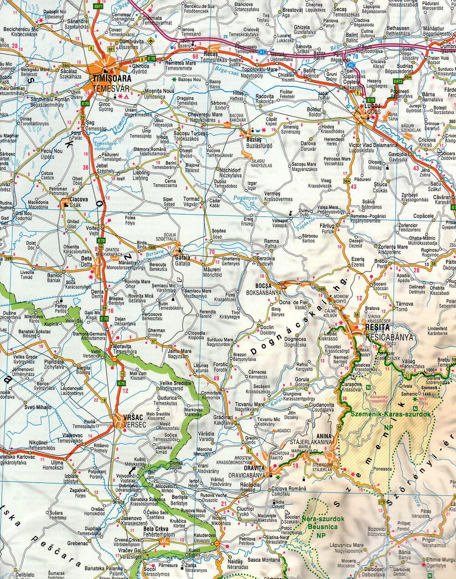 Transilvania 1:500.000 sample map