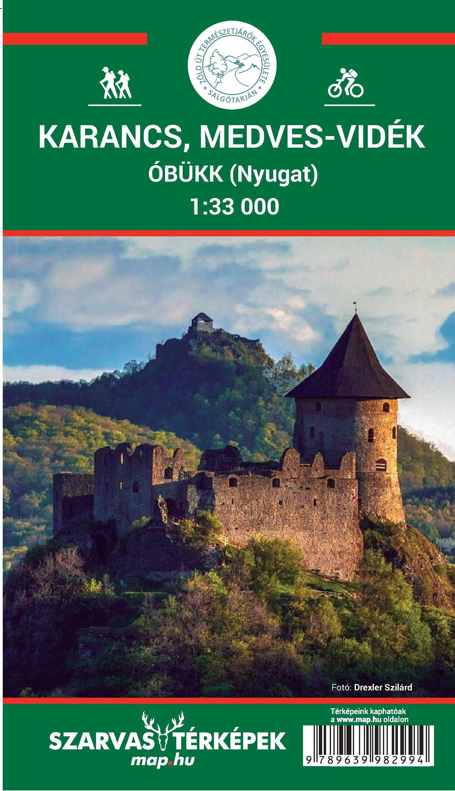 Inset maps Karancs, Salgó-Medves, Szilvás-kő 1.15.000