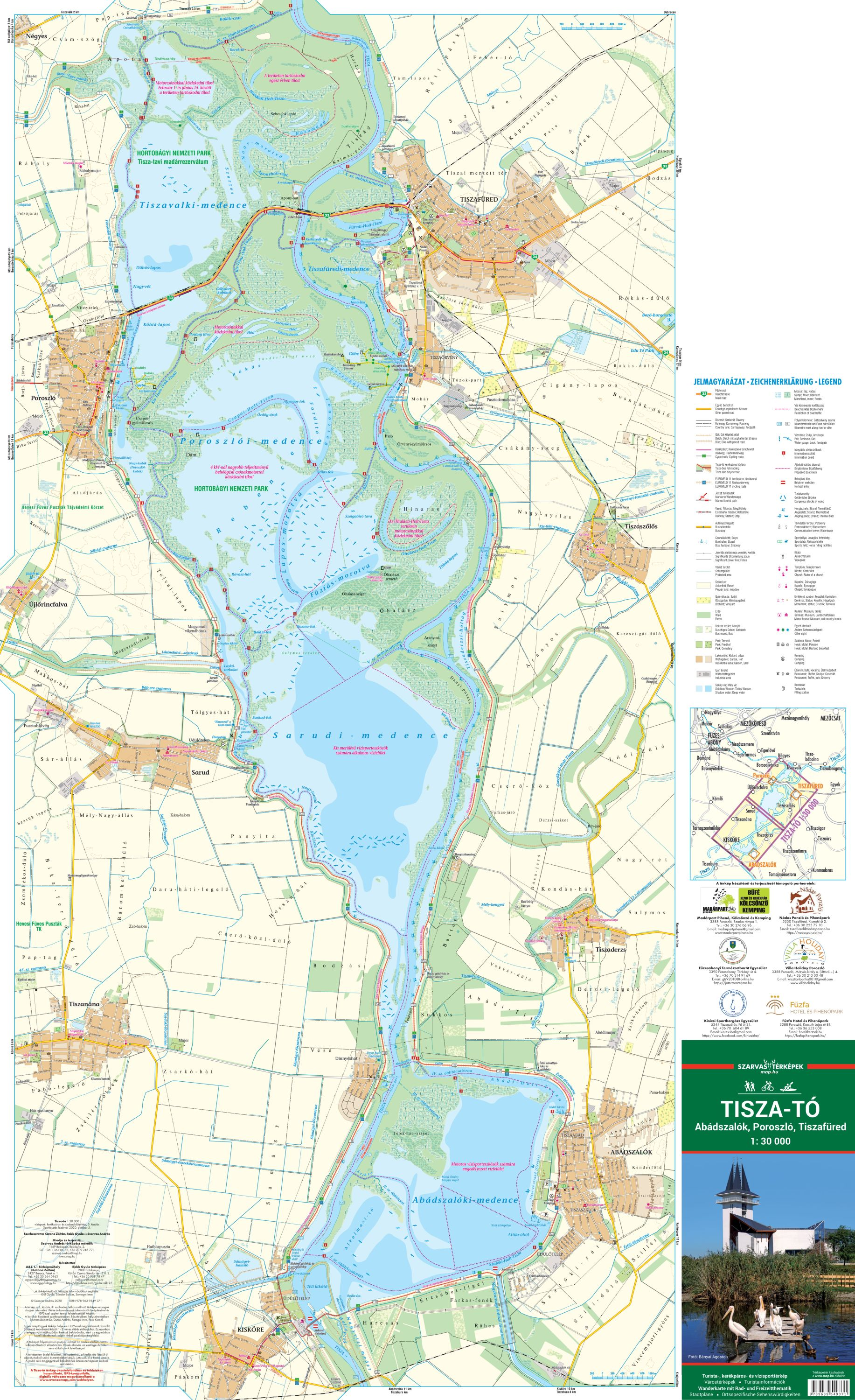 Area covered by the Tisza-lake map