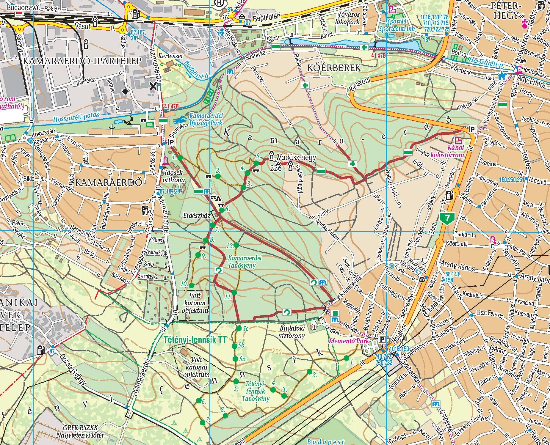 Buda hills 1:25.000 sample map