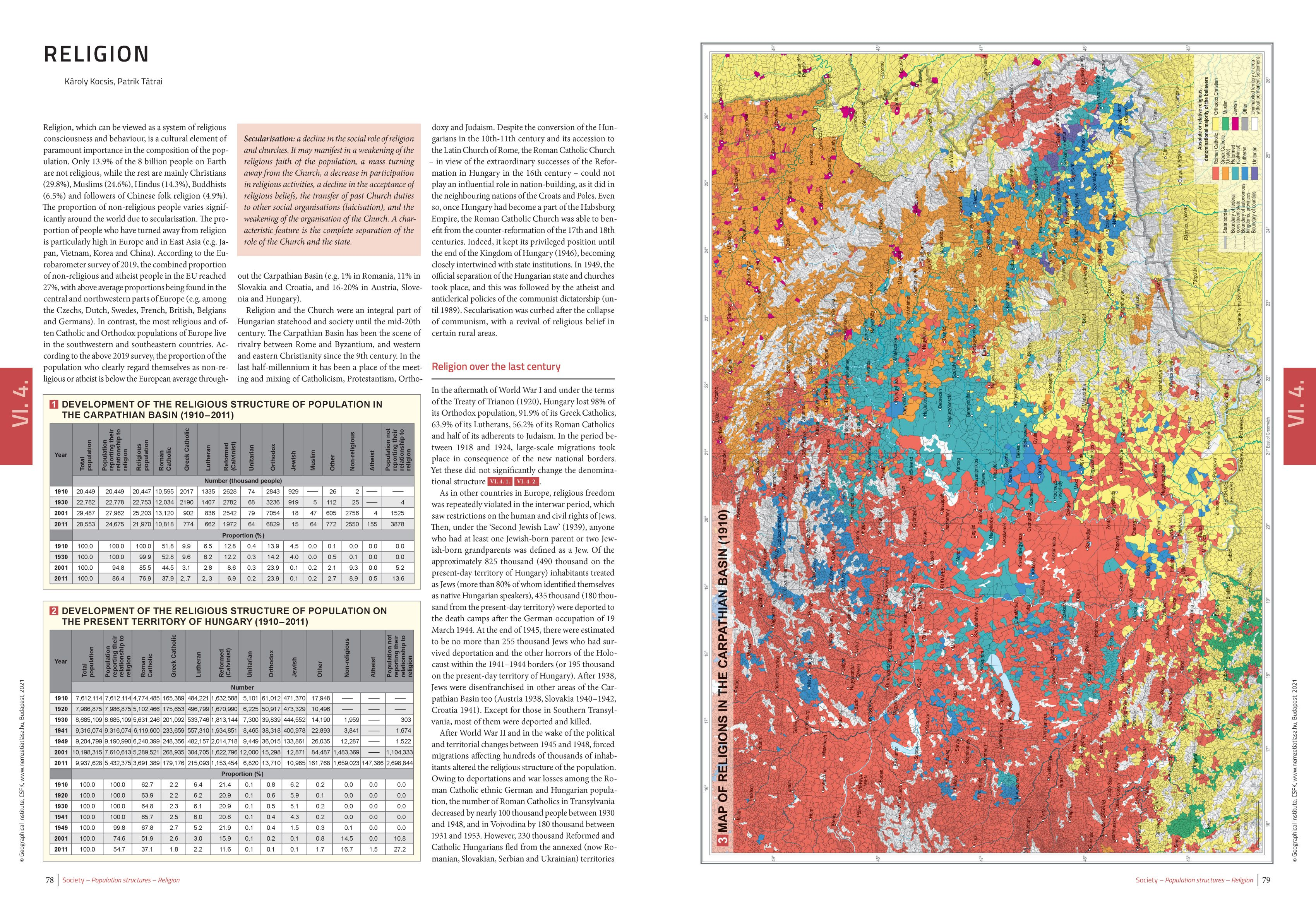 National atlas vol. 3. Society: Sample 4.