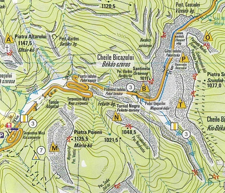 Gyilkos-tó: Békás-szoros térkép minta
