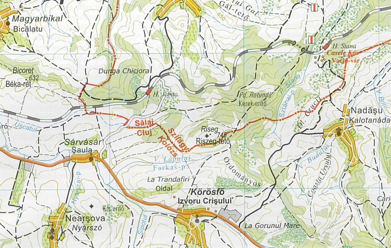 Kalotaszeg térkép minta